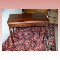 Federal Sheraton Mahogany Game Table Ca. 1830
