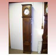 French Morbier Oak Tall Case Grandfather Clock