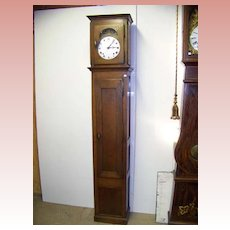 French Morbier Oak Tall Case Grandfather Clock