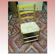 Ladder Back Rush Seat Primitive Chair