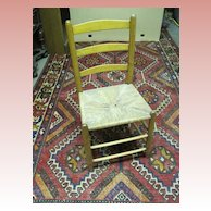 Ladder Back Rush Seat Primitive Chair
