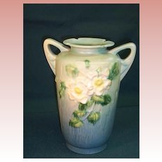 Roseville White-rose Vase  988-10