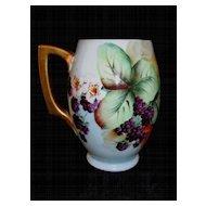 Hand Painted Austrian Mug with Berries
