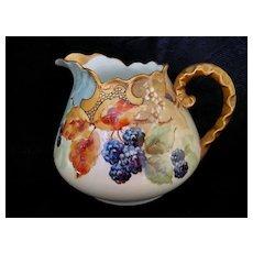 Hand Painted Bavarian Blackberries Cider or Lemonade Pitcher