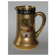 Pickard Hand Painted FRUIT PANELS Tankard Pitcher - signed Vokral
