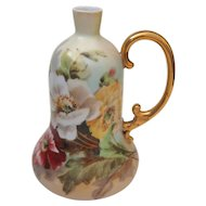 Heidrich Studio, Liquor Decanter, Hand Painted Poppies Motif