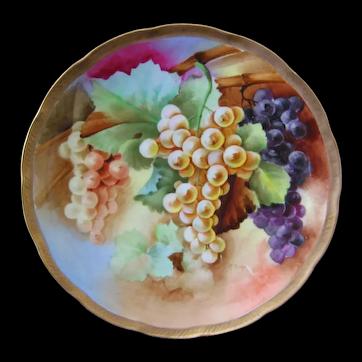 GINORI Italian Hand Painted Grapes Plate