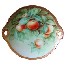 Ginori Hand Painted Italian APPLES Cake Plate
