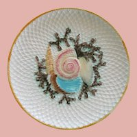 English Fielding Majolica Shell Seaweed And Net Plate