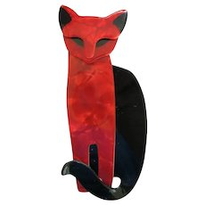 Quarrelsome The Cat Pin By French Designer Lea Stein