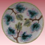 "Etruscan Majolica 9"" Maple Leaves Plate"