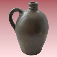Antique Stoneware Whiskey Jug With Great Shape & Patina