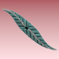 Vintage Double Leaf Pin By French Designer Lea Stein