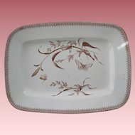 English Brown Transfer Ware  Platter In The Aesthetic Movement