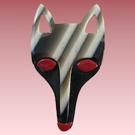 Fox Head Pin By French Designer Lea Stein