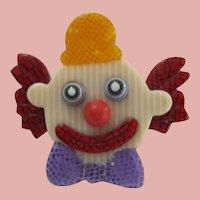 Clown Head Pin By French Designer Lea Stein