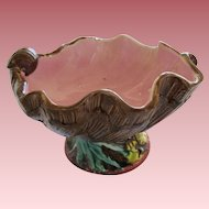 Vintage Majolica Shell Shaped Compote