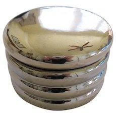 Vintage Silver Porcelain Powder Box By Estee Lauder