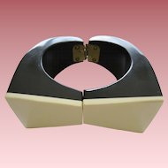 Large Resin Clamp Bracelet by French Designer