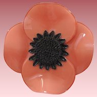 Cilea Of Paris Anemone Floral Pin