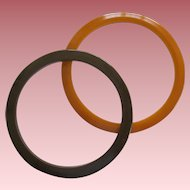 Pair Of Bakelite Spacer Bracelets