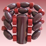 French Designed Resin Stretch Bracelet Great Colors!
