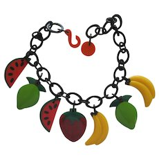 French Designed Resin Fruit Necklace