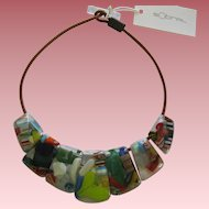 Carlos Sobral Brazil Resin Ipanema Pendant Necklace