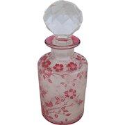 St Louis Cranberry Perfume Bottle