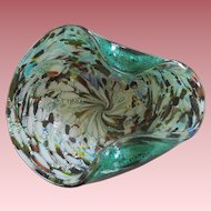 Vintage Murano Glass Bowl Great Colors