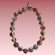 Stunning Carlos Sobral Brazil Resin Greek Eye Or Olmo Grego Beaded Necklace