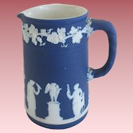 Wedgwood Jasperware Cobalt Blue Pitcher