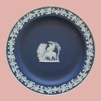 Cobalt Blue Wedgwood Jasperware Plate With Winged Horse