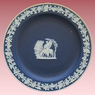 Cobalt Blue Wedgwood Jasperware With Winged Horse