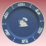 Cobalt Blue Wedgwood Jasperware With Cupid