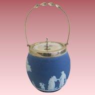 19th Century Wedgwood Jasperware Biscuit Jar