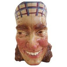 Viva Les English French Sarreguemines Majolica Character Jug