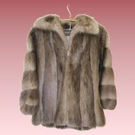 Stunning Long Haired Beaver Fur Jacket By Phil M Stupp Haverford Philadelphia Pa