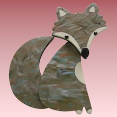 Galalith Fox Pin By French Designer