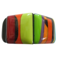 French Designed Resin Stretch Bracelet Very Colorful