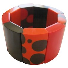 French Designed Resin Stretch Bracelet By French Designer