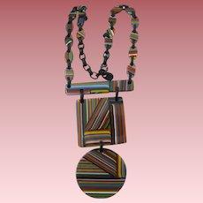 Carlos Sobral Brazil Resin  Pendant Necklace