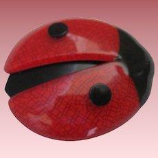 LadyBug Lady Bug Pin By French Designer Lea Stein