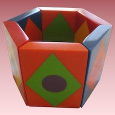 Colorful Geometric Stretch Bracelet By French Designer