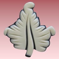 Pretty French Designed Resin Leaf Pin