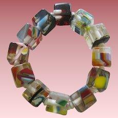 Carlos Sobral Brazil Coba Resin Stretch Cubed Bracelet