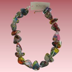Carlos Sobral Gloria Chunky Multi Colored Resin Necklace