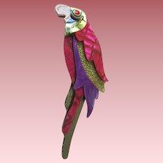 Kokokah The Parrot Pin By French Designer Lea Stein