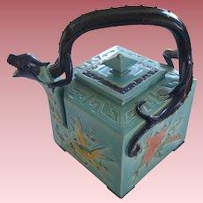 Rare Antiques Royal Worchester Majolica Dragon Teapot