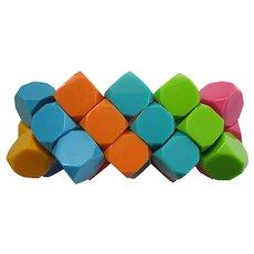 French Designed Colorful Resin Stretch Bracelet